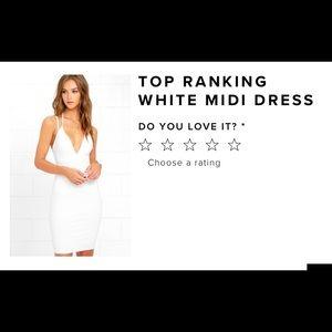 Lulus top ranking midi white dress